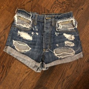 Ripped high waisted denim jeans